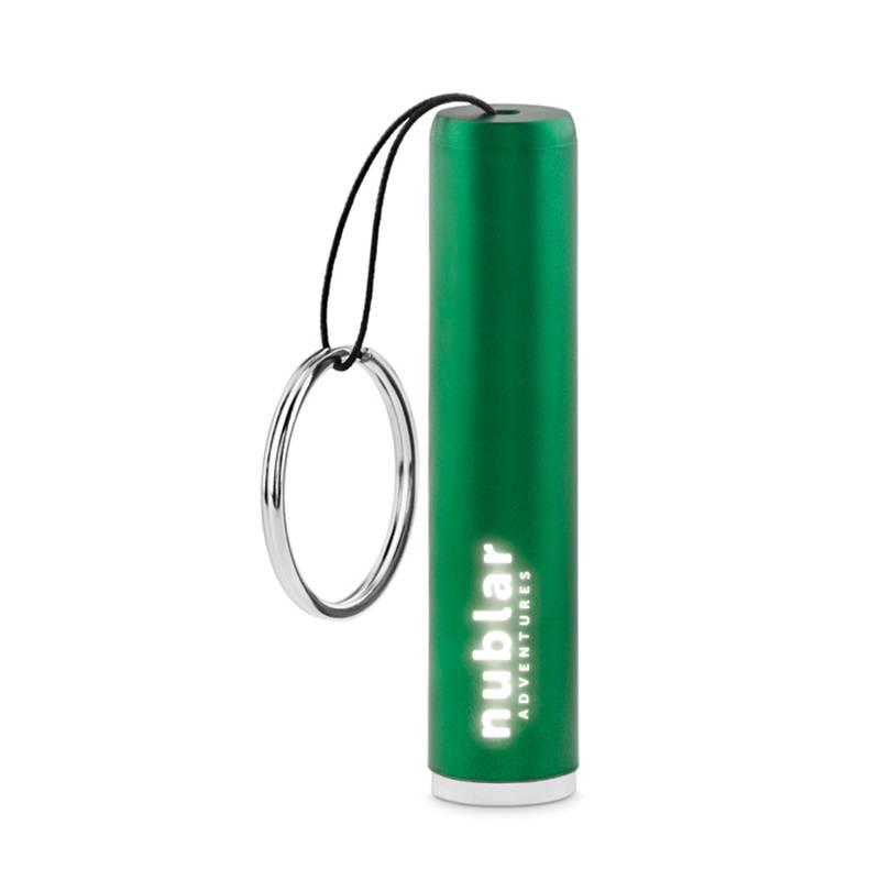 Baterka se svítícím logem s potiskem
