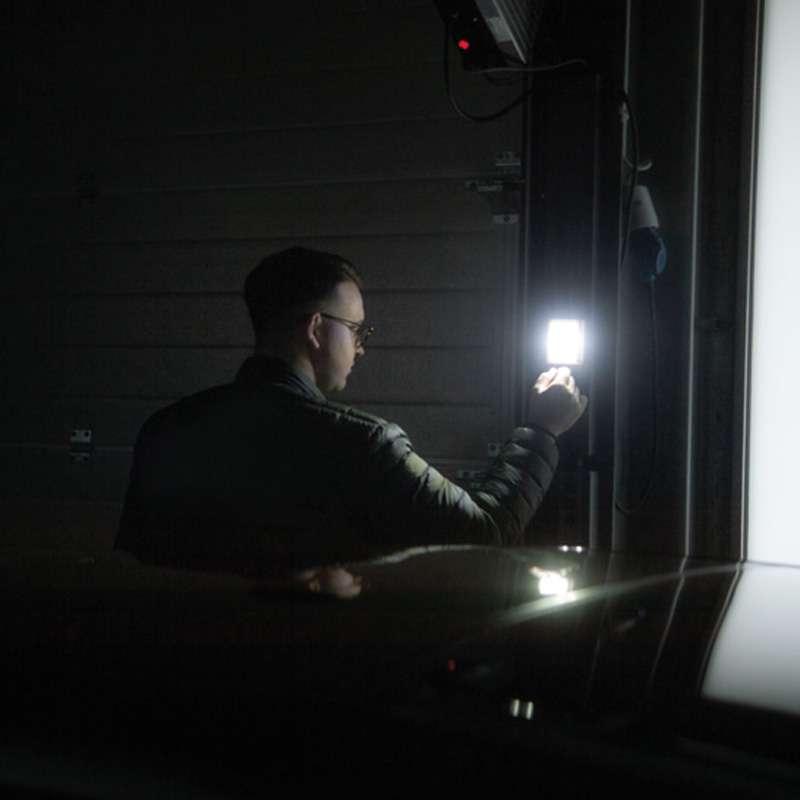 Noční lampa se stmívačem