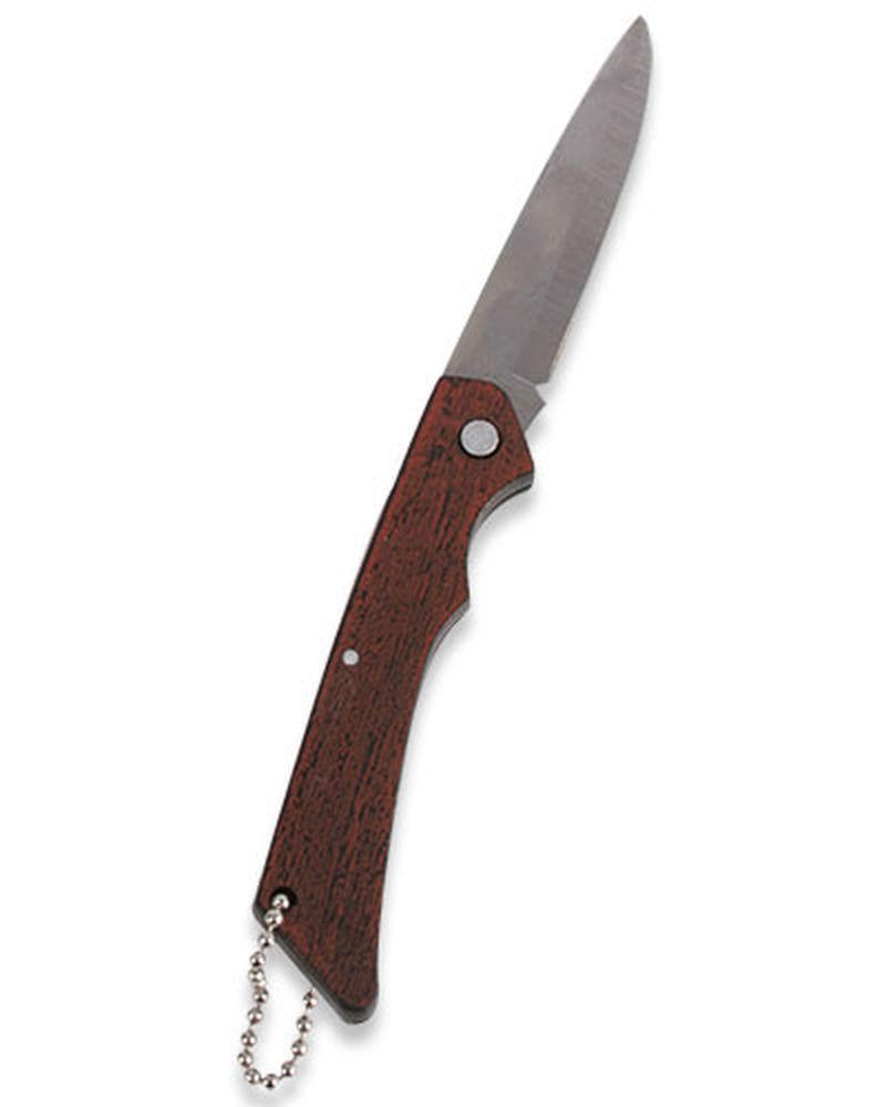 Kapesní nůž s dřevěnou rukojetí