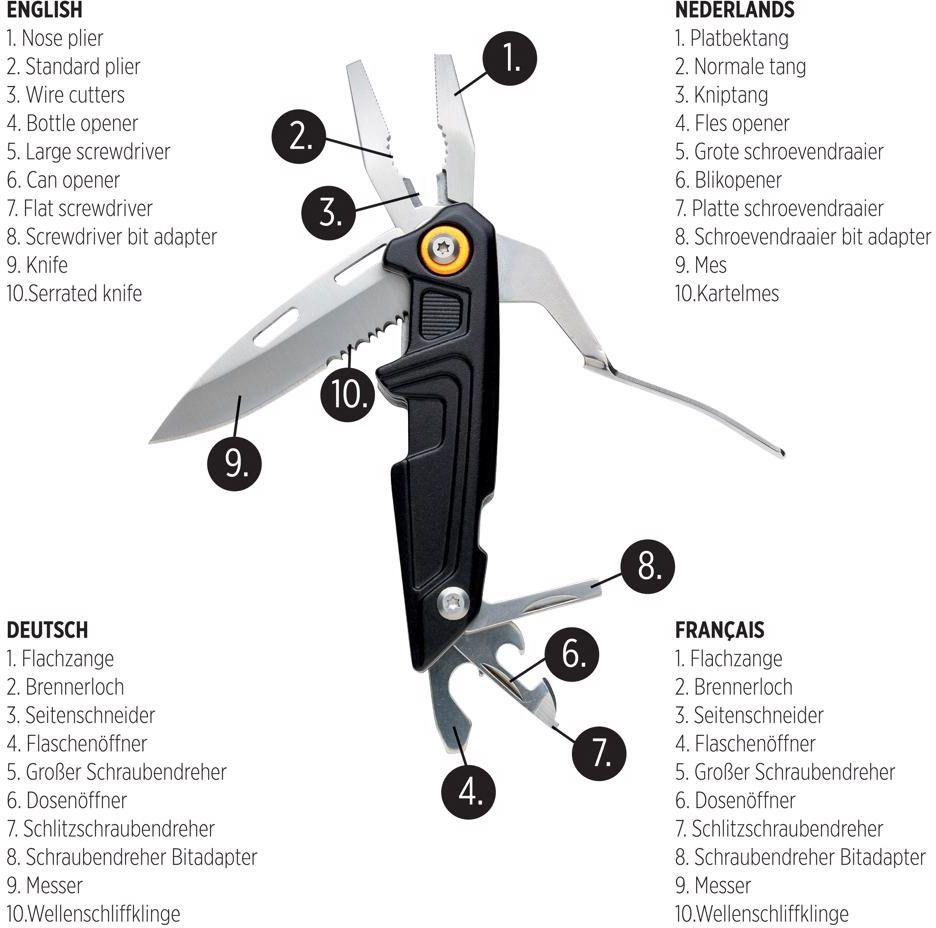 Multifunkční nůž Excalibur s bit setem