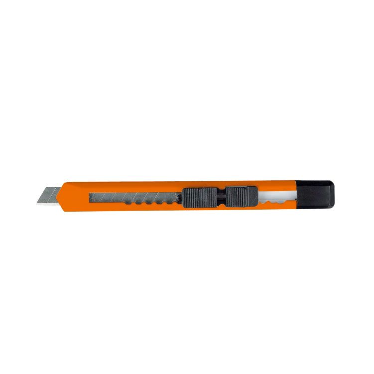 Oranžový tenký nůž s odlamovací čepelí