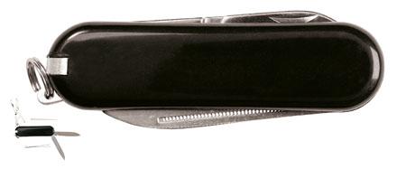 Černý mini multifunkční nůž, 6 funkcí