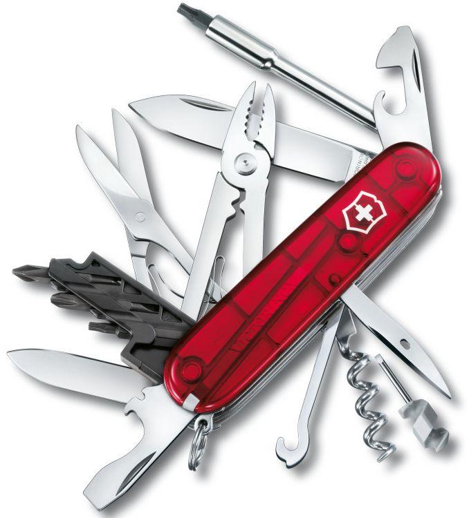 Nůž Victorinox CyberTool 34 transparentní červený