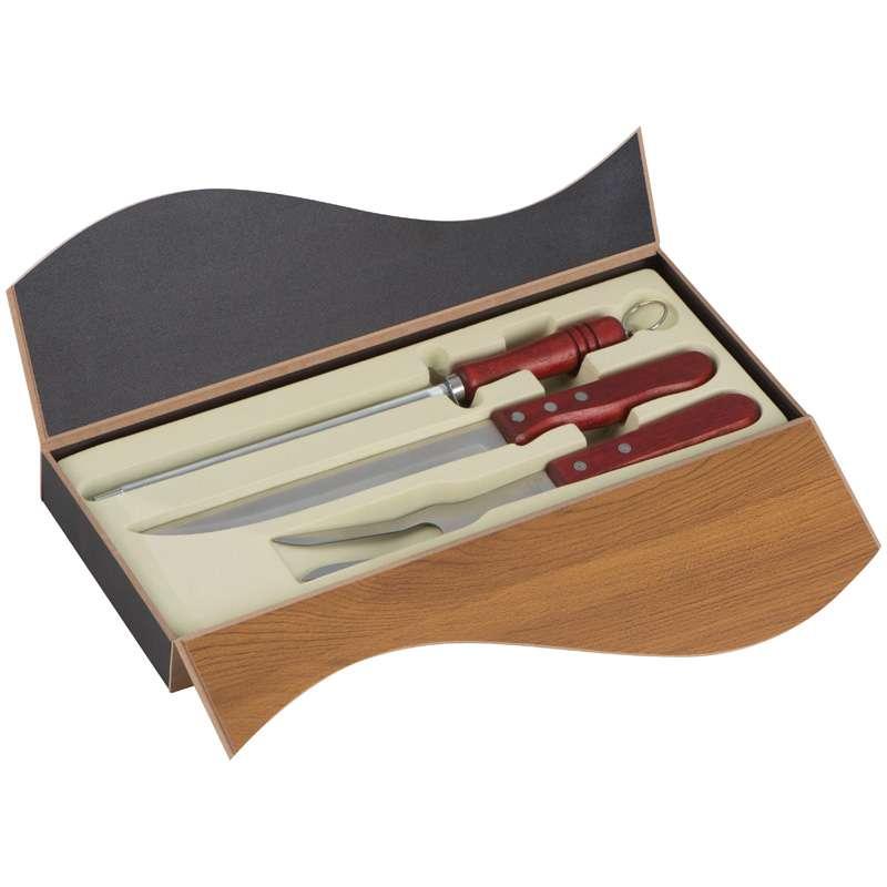 Nůž na porcování masa a vidlička