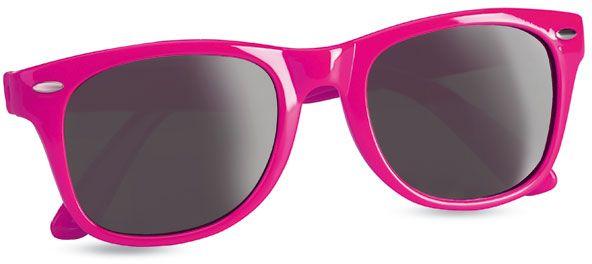 Sluneční brýle s UV ochranou růžové s potiskem