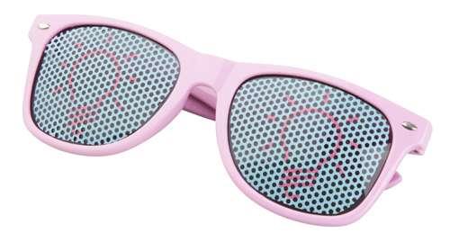 Xaloc světle růžové sluneční brýle