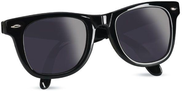 Skládací černé sluneční brýle
