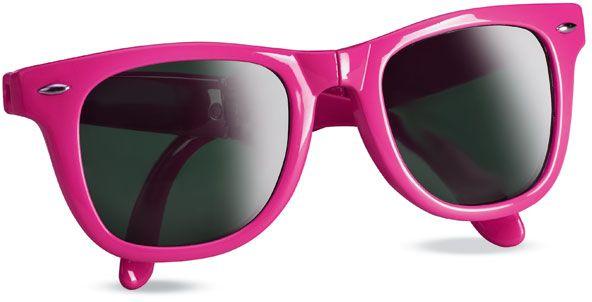 Skládací růžové sluneční brýle