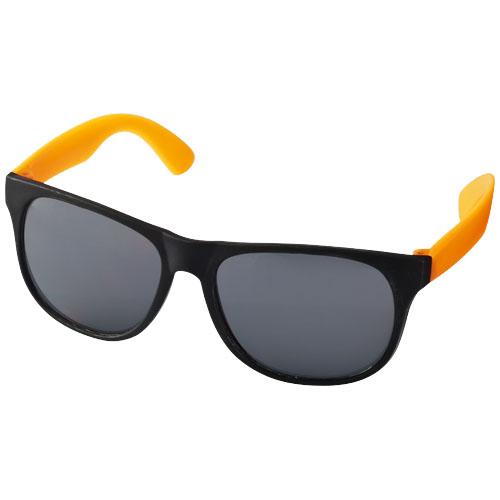 Sluneční brýle Retro oranžové s potiskem