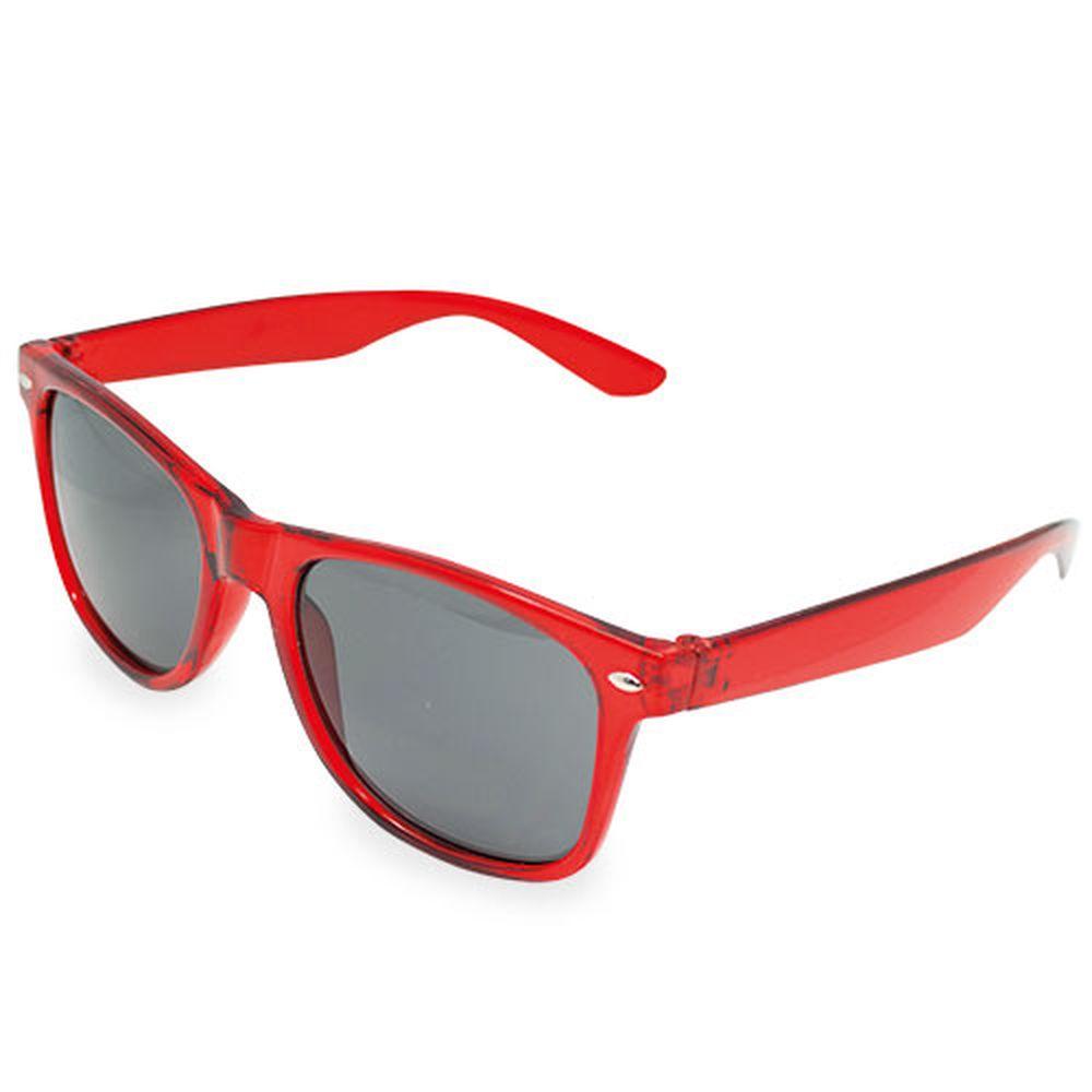 Transparentní sluneční brýle červené