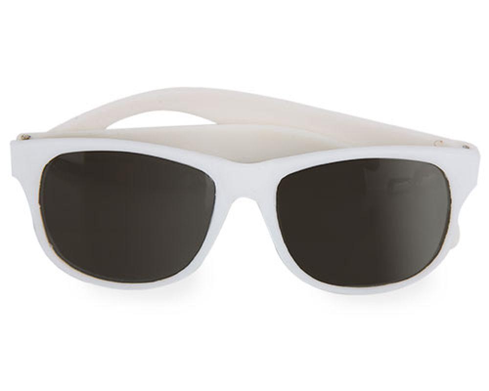 Sluneční brýle matné bílé s potiskem
