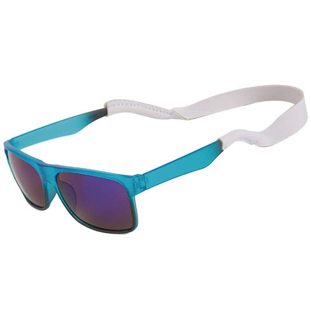 Neoprénová šnůrka na brýle bílá s potiskem