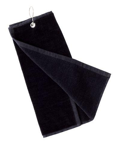 Tarkyl černý golfový ručník