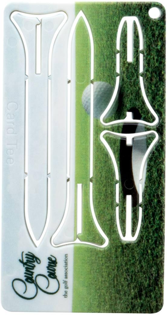 Tunker karta s golfovými týčky