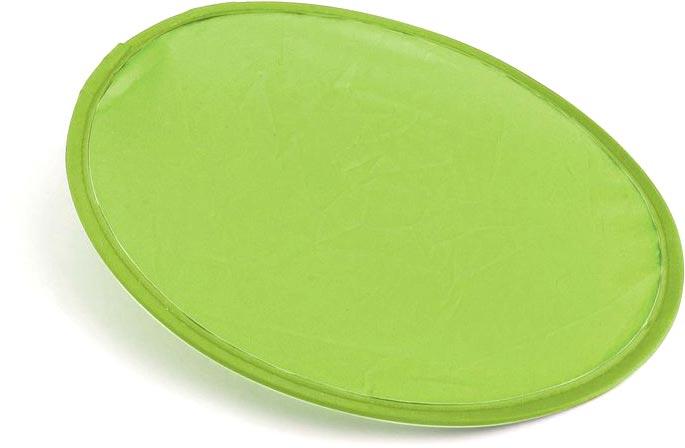 Skládací frisbee světle zelené s potiskem