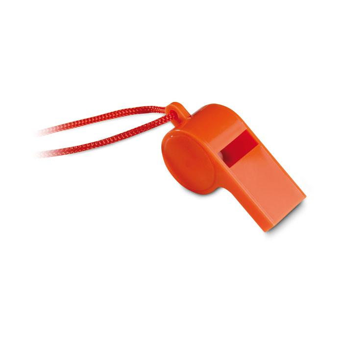 Barevná sportovní plastová píšťalka - oranžová