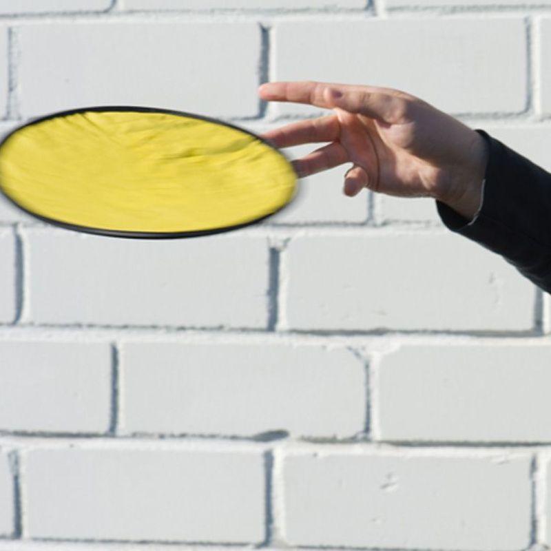Skládací žluté frisbee