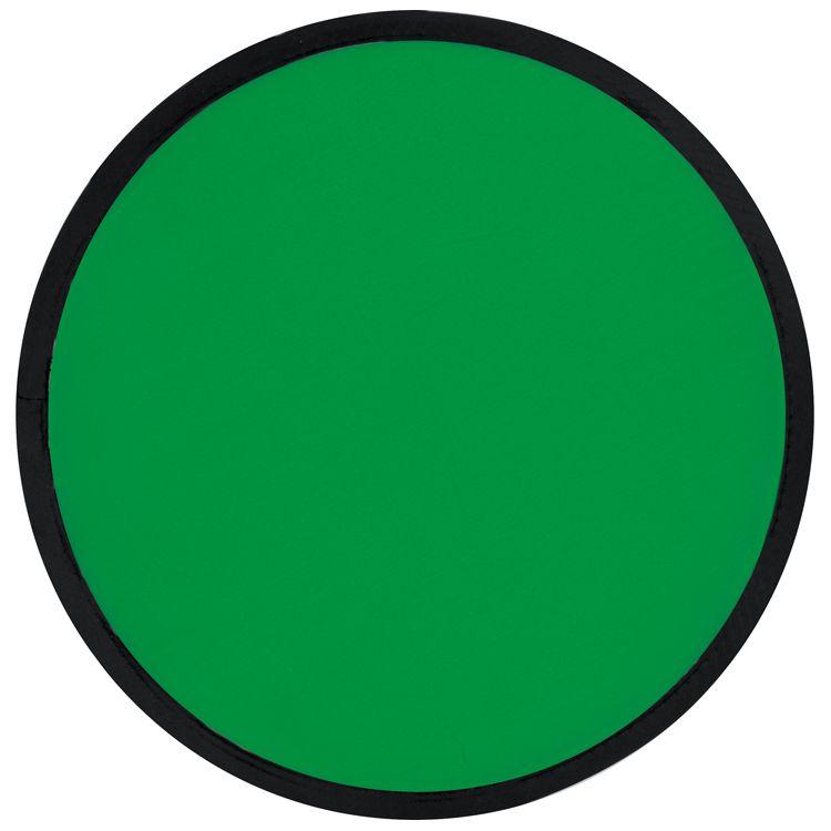 Skládací zelené frisbee s potiskem