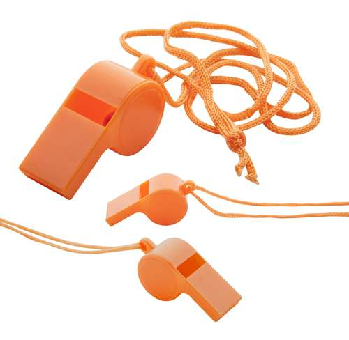 Claxo oranžová píšťalka s potiskem
