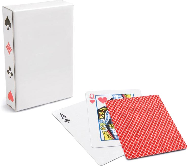 Krabička 54 karet červená