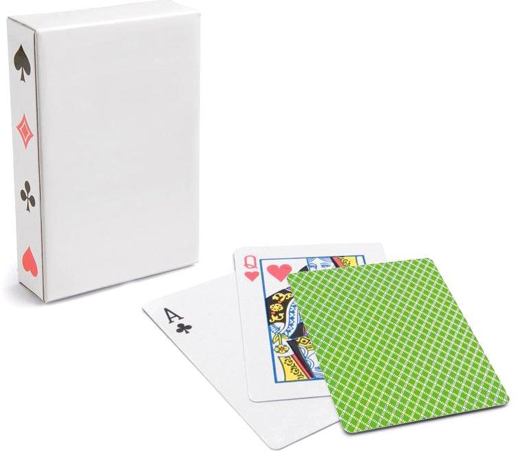 Krabička 54 karet světle zelená s potiskem