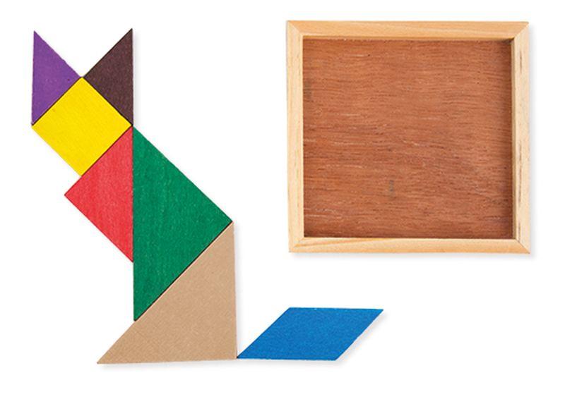 Dřevěný tanagram
