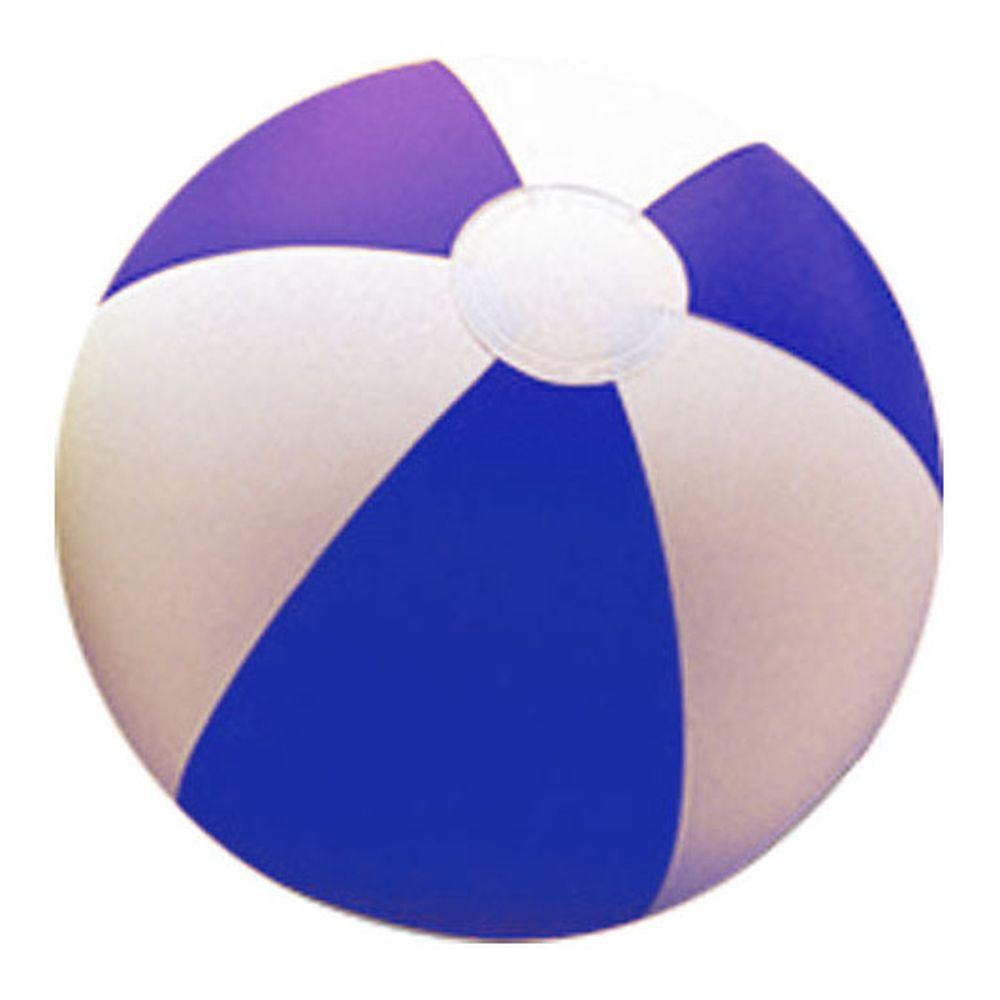 Plážový míč dvoubarevný bílo-modrý