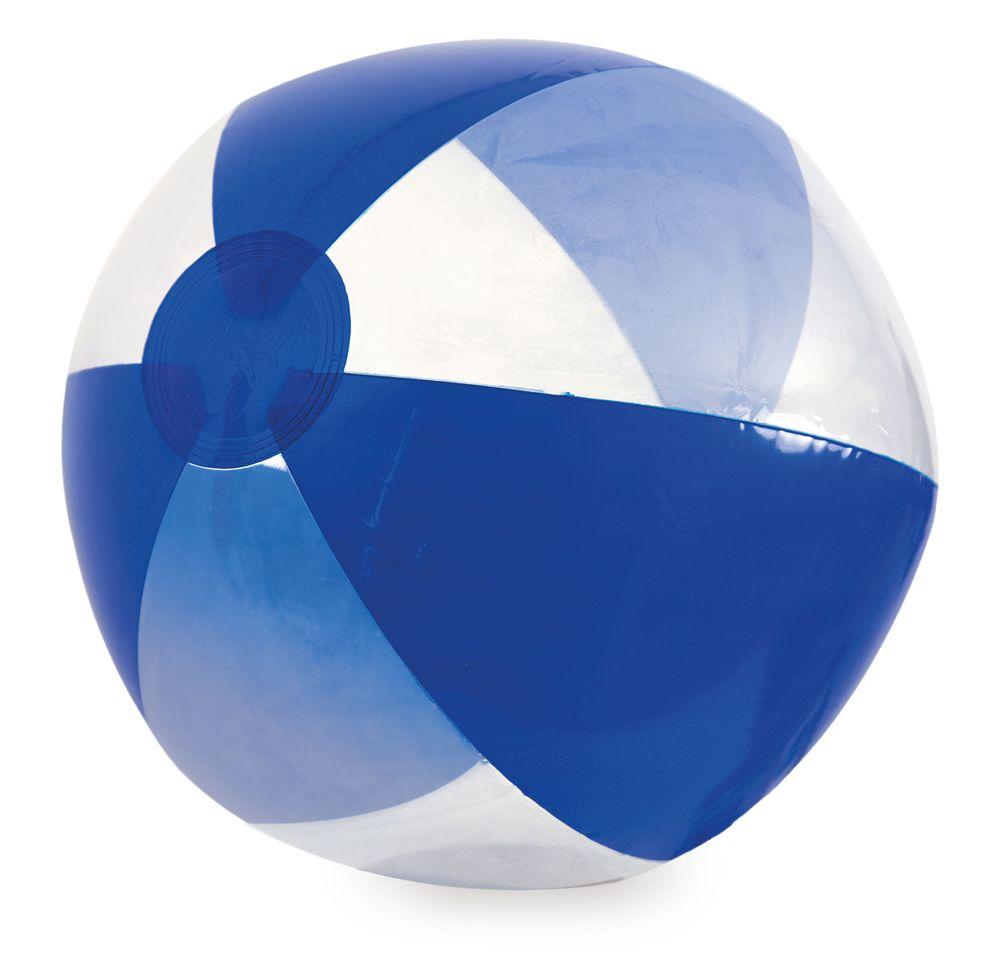 Nafukovací míč transparentní-tmavě modrá