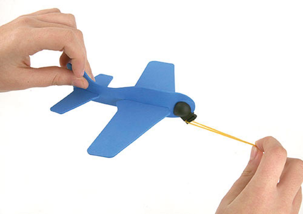 Letadýlko z gumy modré