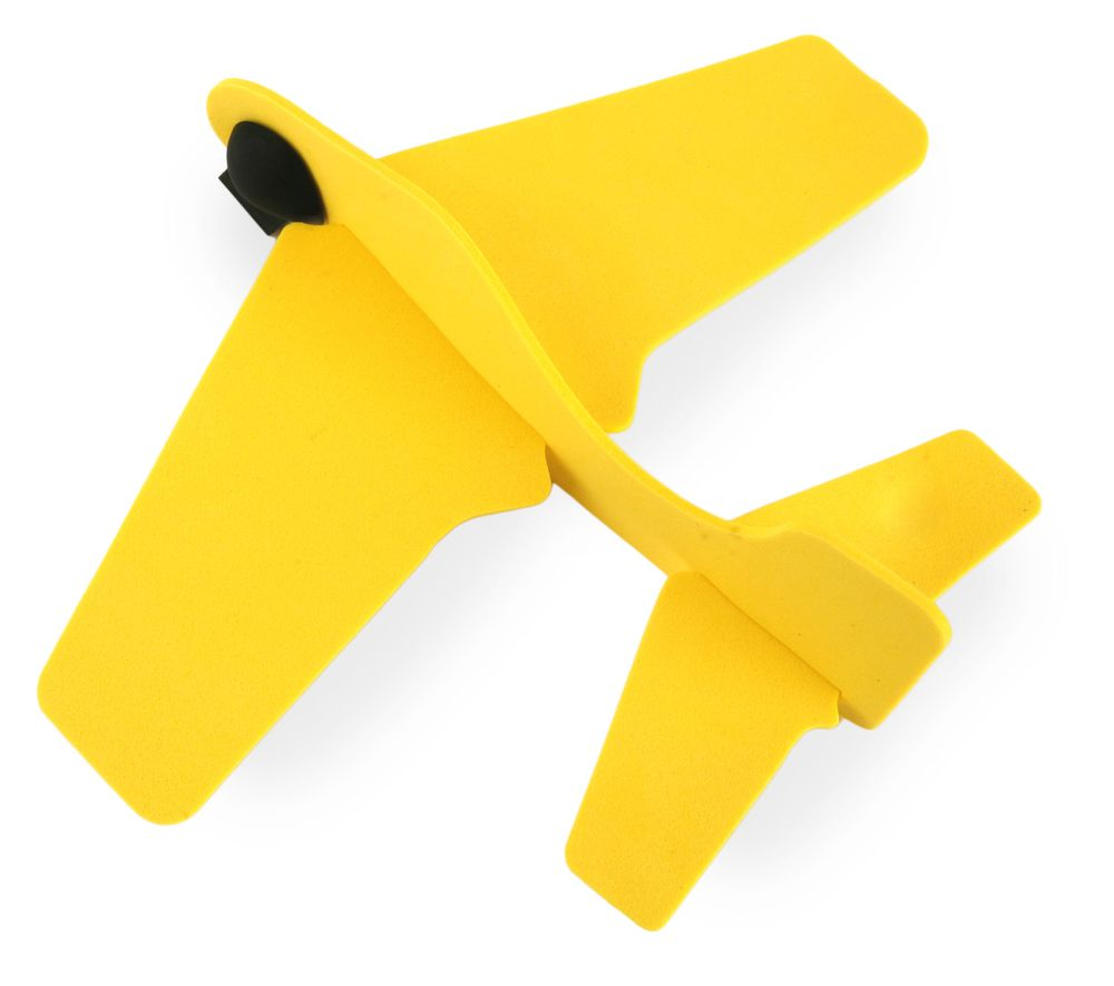 Letadýlko z gumy žluté