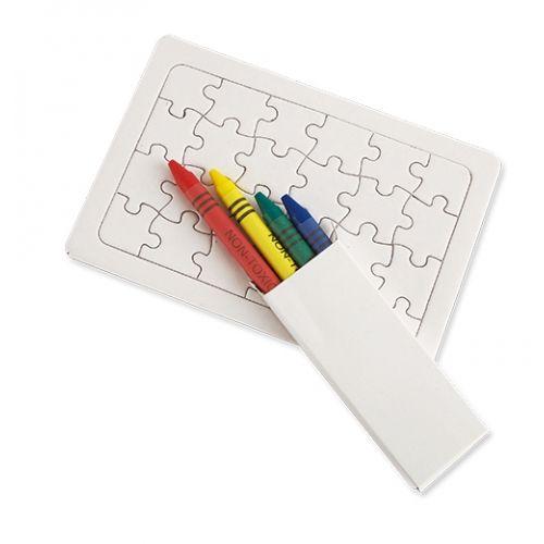 Puzzle s voskovkami