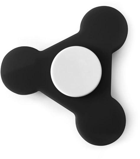 Plastový Spinner černý