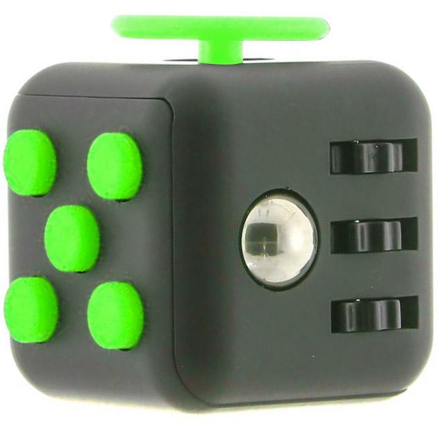 Fidget Cube černo-zelená