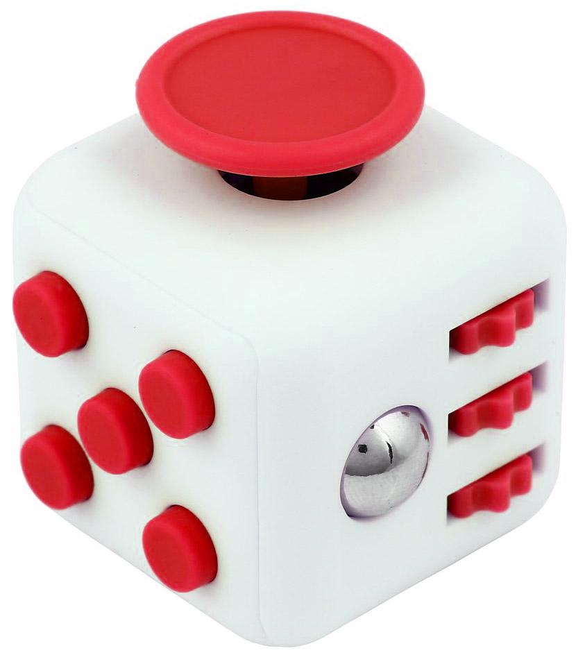 Fidget antistresová kostka bílo-červená