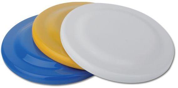 FRISBEE plastový létající talíř, bílá s potiskem