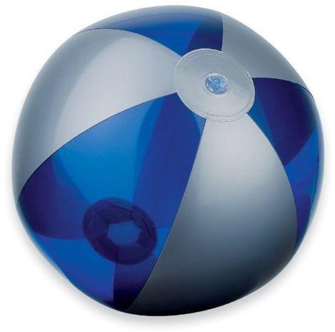BEACH plastový nafukovací míč, 6 panelů, modrá