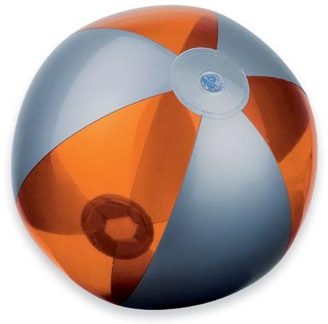 BEACH plastový nafukovací míč, 6 panelů, oranžová