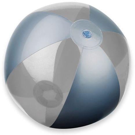 BEACH plastový nafukovací míč, 6 panelů, transp. průsvitná