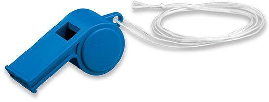 ARBITER plastová píšťalka na šňůrce, modrá