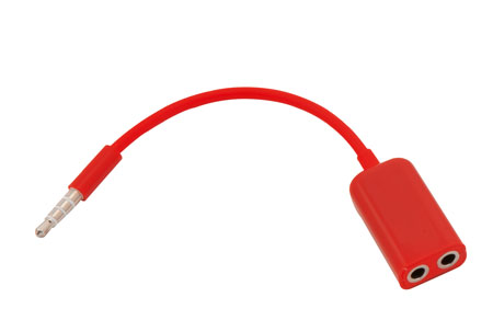 Dupli jack rozdělovač červený