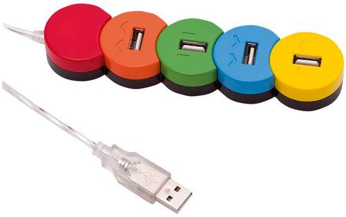 Barevný USB hub