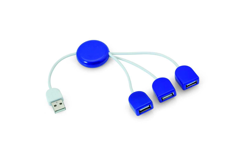 POD  USB hub modrý