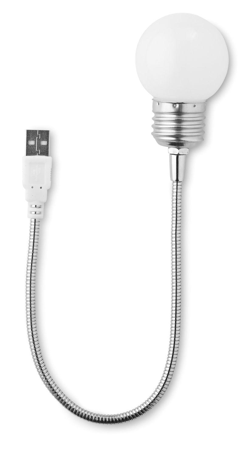 USB světlo ve tvaru žárovky