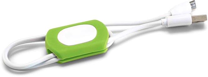 Organizér kabelů světle zelený
