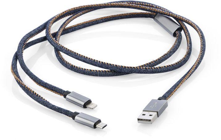 USB kabel 2v1 JEANS
