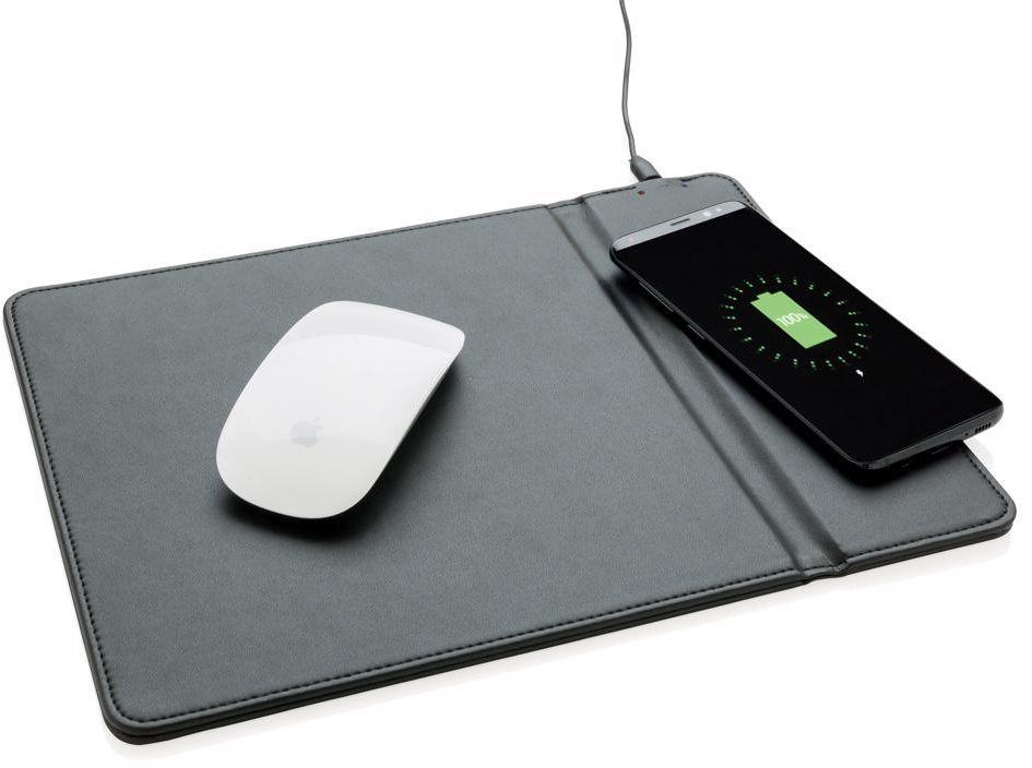 Podložka pod myš s bezdrátovým 5W nabíjením