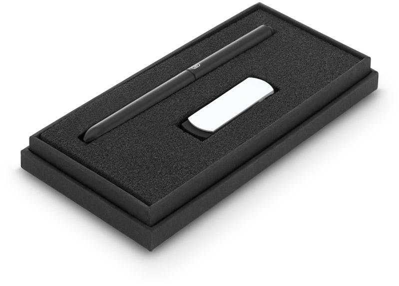 THALES. Sada kuličkového pera a USB flash disku, 4GB