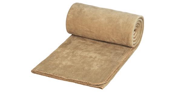 Pikniková deka béžová s potiskem