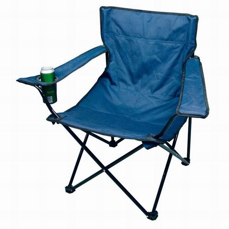 Campingová modrá židle s taškou