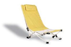 Žlutá plážová židle